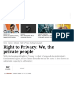 Right to Privacy_ We, The Private People _ the Indian Express