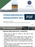 BAB 1 Pengembangan Dan Manajemen SDA