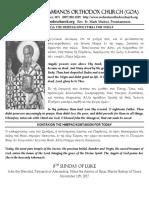 8th Sunday of Luke 11-12-17