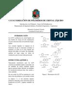 Catacterización de Polimeros de Cristal Líquido