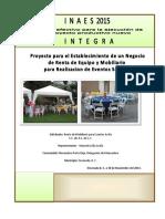 Proyecto de Renta de Mobiliario Para Eventos Sociales