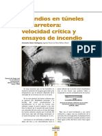 Incendio en Tuneles y Velocidad Critica