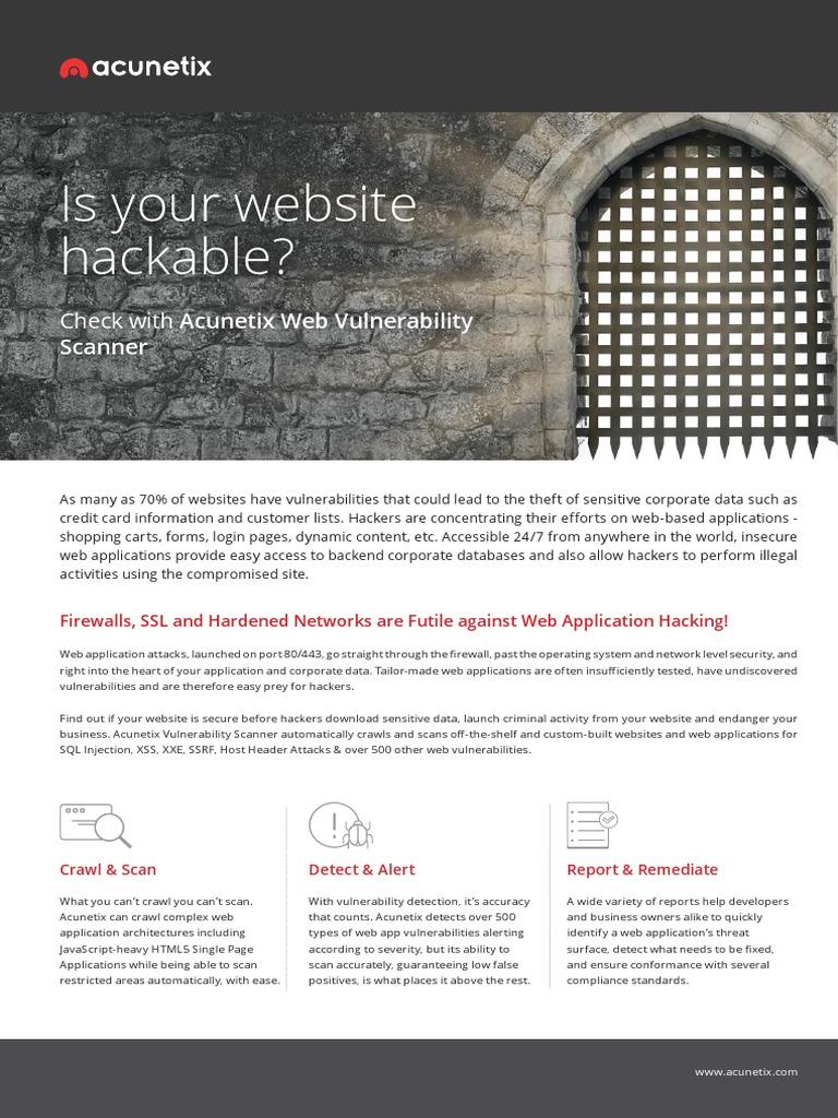 Wvs Brochure | Word Press | Vulnerability (Computing)