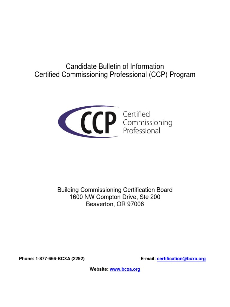 Ccp Candidatebulletin 2012v1 Professional Certification Test