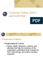 Corporate Culture Ethics and Leadership