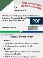 Pembukaan Seminar Ilmiah Tkmkb 2016