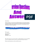 Questions Answers Interview for Bank