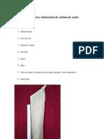 Patrón y Elaboración de Corbata de Varón
