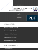 Impact of Inflation and Real Wages on Labor Productivity