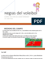 Reglas Del Voleibol Diapositivas Carolina