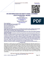 ON INFORMATION SECURITY USING A HYBRID CRYPTOGRAPHIC MODEL