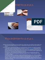 Procedimiento PEPS