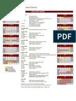 CIS School Calendar 2018-19