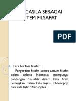 Pancasila Sebagai Sistem Filsafat Presentation