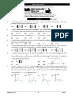 Class Test Kinametics & Vector