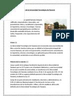 Creación de La Universidad Tecnológica de Panamá