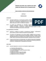 Reglamento Interno de Prácticas Pre Profesionales CC.cc 2016