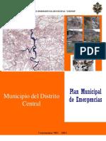 Tegucigalpa Plan Municipal Emergencias (2)