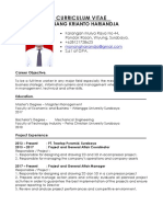 CV an Monang K. Hariandja