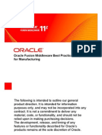 Oracle Fusion Middle Ware for Manufacturing