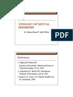 Etiologi of Mental