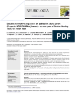 Estudios Normativos Espanoles en Población Adulta Joven-6 BNT y Token Test