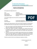 Pakta Integritas Agen LPG NPSO