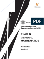 Year12 General Maths Practice Test