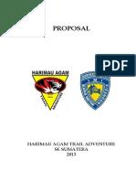 Harimau Agam Trail Adventure - Proposal