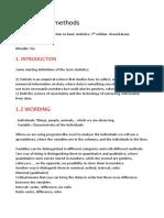 Quantitative Methods Notes