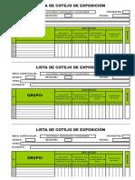 Lista de Cotejo - Exposición - Grupal - 1