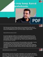 Caste Factor May Keep Kamal Haasan on Tenterhooks