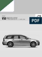 Preisliste Volvo v50 My09