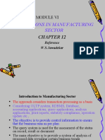 Applications of MIS in Manufacturing Sector
