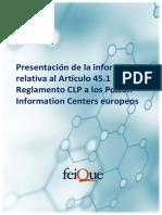 Informe Poison Centers Europeos