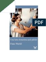 Werfel Franz - Una Letra Femenina en Azul Palido (2)