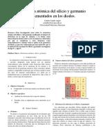 Estructura Atomica de Silicio y Germanio Implementados en Diodos