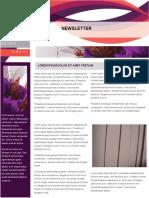 Newsletter Template 12