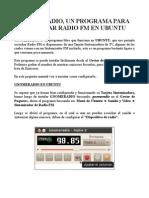 Manual de GnomeRadio Un Programa Para Escuchar Radio FM en Ubuntu