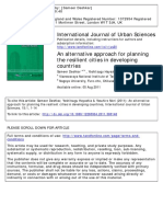 Alternative Approach for Planning for Urban resilience