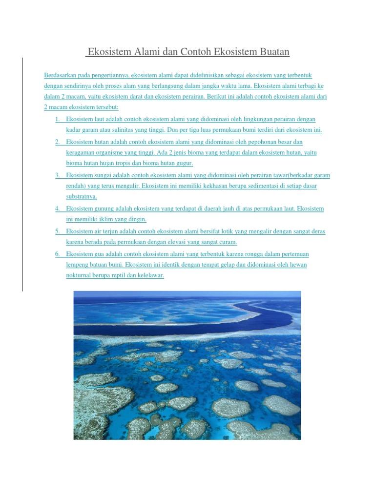 293667235 Ekosistem Alami Dan Contoh Ekosistem Buatan Docx