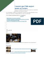 Prueba PISA Mostró Que Chile Mejoró Significativamente en Lectura