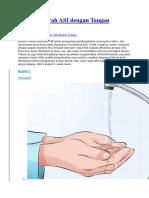 Cara Memerah ASI Dengan Tangan