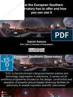 What the European Southern Observatory has to offer and how you can use it