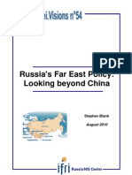 Russia's Far East Policy