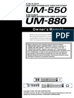 EDIROL UM-550 + 880 Owners's Manual