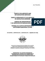 Doc 7100 Tarify Na Uslugi Aeroportov i Aeronavigatsionnyh Sluzhb Izdanie 2014[1]