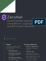 ZeroNet - Decentralized p2p Web Platform