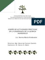 Diseño de Actividades Prácticas en La Enseñanza de La Química Inorgánica