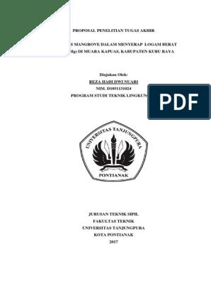 Efektivitas Mangrove Dalam Menyerap Logam Berat Merkuri Hg Di Muara Kapuas Kabupaten Kubu Raya Copy Copy